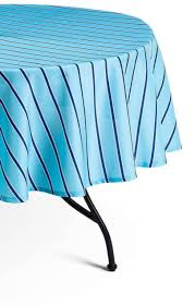 decor by target summer wipeable tablecloth blue stripe round 70 diameter