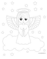 Small Picture Angel Coloring Pages Angel Coloring Pages To Printjpg Page mosatt