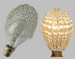 crystal chandelier inspired glass bead lightbulb gls bulb cover sleeve pendant lamp better than lamp shade