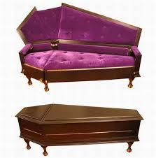 The Vampire Database  Purple Haze Coffin Couch  Vampire RaveCoffin Couch