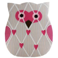 Owl Memo Board Pink Owl Notice Board Home Decorations at The Works 1