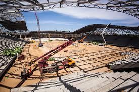 История строительства стадиона БАТЭ Строительство стадиона БАТЭ  Стадион БАТЭ Фотографии Картинка