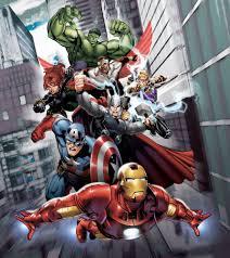 Marvel Bedroom Wallpaper Wall Mural Wallpaper Marvel The Avengers Iron Man Hulk Thor Photo