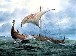 viking ship at sea amazing ships oil paintings