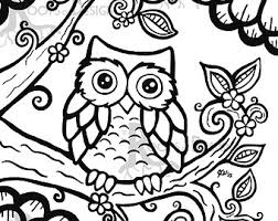 Cute Owl Coloring Pages To Print On Page Ayushseminarmahainfo