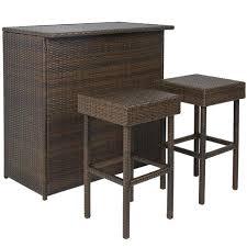 3 piece patio bar set. Modren Set 3 Piece Patio Bar Set On R
