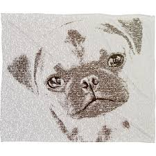Deny Designs Cyber Monday Belle13 The Intellectual Pug Fleece Throw Blanket Offers