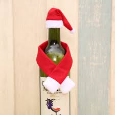 How To Make Decorative Wine Bottle Stoppers Hot New Christmas Wine Bottle Accessory Santa Hat Scarf Bottle 90