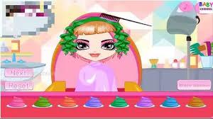 trò chơi trẻ em cắt tóc cho búp bê doll game haircuts for dolls by dolls makeup