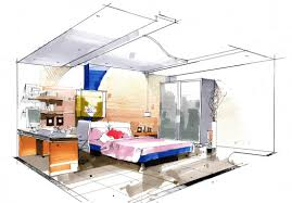 Unique Interior Design Bedroom Sketches On Impressive Amazing Modern And Innovation