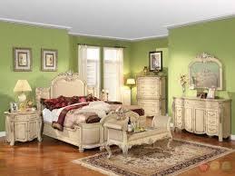 Luxury Antique White Bedroom Furniture Scheme - Living Room Ideas