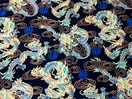 Asian Exotic Dragon Fire Cloud Japan Cloud Japanese Asian Cotton ... & Asian Exotic Dragon Fire Cloud Japan Cloud Japanese Asian Cotton Quilt  Fabric TP028 Adamdwight.com