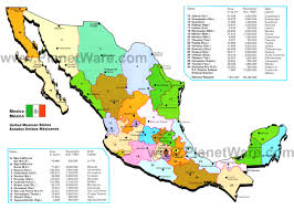 map of mexico mexican states  planetware