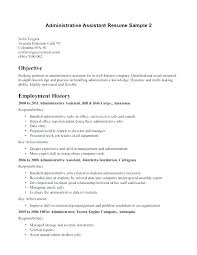 Admin Resume Objective Administrative Job Resume Objective Office Assistant Samples Skills