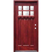 craftsman double front doors. craftsman 6 lite stained mahogany wood prehung front door double entry doors home with glass