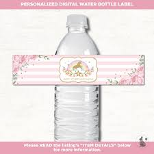 waterbottle labels unicorn water bottle labels unicorn birthday favors rainbow