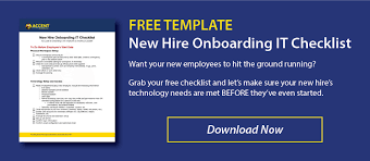 New Hire It Checklist It Untangled How To Onboard New Hires With Technology Free Checklist