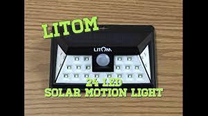 litom super bright 24 led outdoor motion sensor solar light