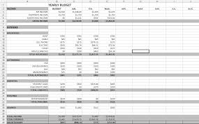 Monthly And Yearly Budget Template Yearly Budget Spreadsheet Annual Planner Family Templates