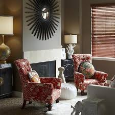 taupe and red living room
