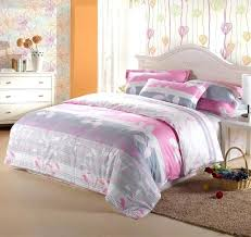 incredible art style girls bedroom with pink and grey fl queen size girl bedding sets image