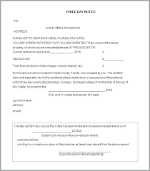 Rent Notice Letter Notice To Quit Sample Job Letter Free Five 5 Day Non Payment