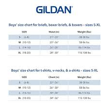 Gildan Boxer Brief Size Chart Gildan Boys Boxer Brief Underwear 6 Pack