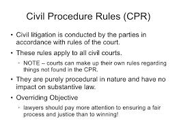 common law trial procedure 4 civil procedure