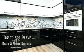 black and white kitchen tiles how to add drama with a black and white kitchen black black and white kitchen tiles