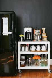 office coffee cart. How To Stock Your Own Coffee Cart Abeautifulmess.com Office A Beautiful Mess