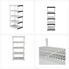 garage shelf plastic storage durable light weight water resistant heavy duty