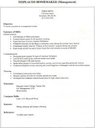 Sample Resume For Homemaker Returning To Work homemaker resume sample Savebtsaco 1