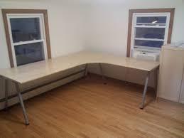 ikea l shaped desk hack