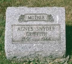 Agnes Snyder Griffith (1856-1944) - Find A Grave Memorial