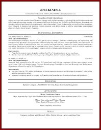 restaurant resume objective awesome hospitality resumes objectives in resume objective examples