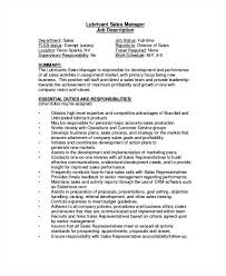 Regional Sales Manager Job Description Lubricant Sales Manager Job