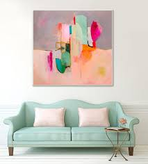large abstract painting wall art c