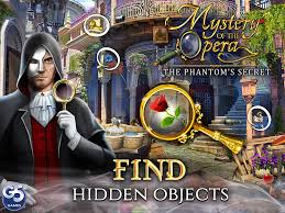 The phantom of the opera at dream games. Mystery Of The Opera The Phantom S Secret Cateia Games