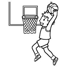 シュート白黒バスケットボールの無料イラスト部活動クラブ活動