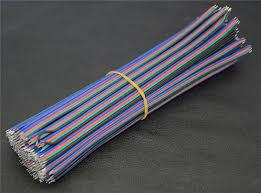 aliexpress com buy 100pcs 20cm rgb 4pin wire cable led diy 100pcs 20cm rgb 4pin wire cable led diy strip cable 20cm 4 colors wire