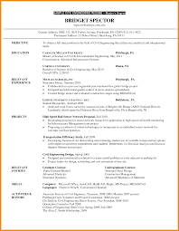Confortable Post Graduate Resume Objective In Recent College
