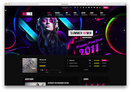 Music Website Templates Fascinating 48 Best Responsive HTML48 Music Website Templates 48 Colorlib