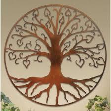 beautiful design ideas tree of life wall decor plaques art plaque bronze 3d 3 panel celtic wire