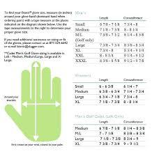 Golf Gloves Size Chart Bionic Men S Glove Nike Zaferkaraman
