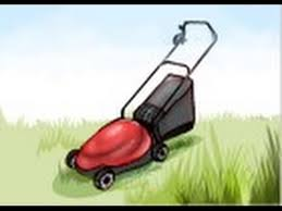 lawnmower drawing. lawnmower drawing a