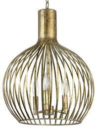 wire cage pendant lighting rajah regency antique gold metal 3 light industrial shade