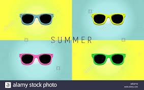 Minimalistic Summer Background With Sunglass Flat Design