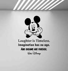 disney wall decal mickey mouse quote