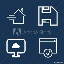 Premium Set Of Outline Vector Icons Such As Finance Home