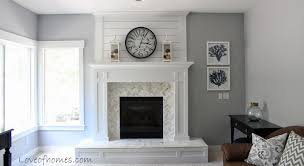 Tile Fireplace Makeover Love Of Homes Fireplace Reveal